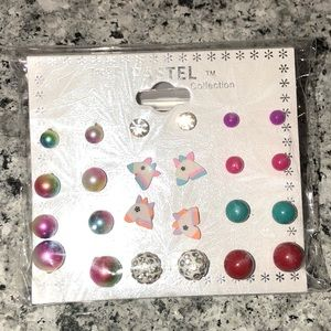 NWT 12 pack of young girls earrings